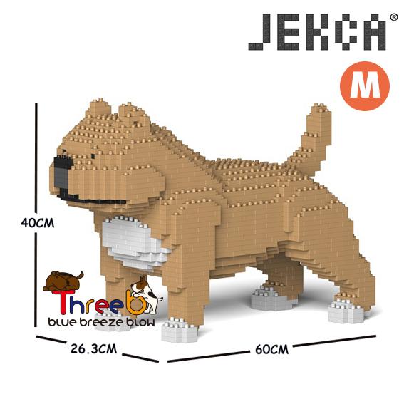 JEKCA ジェッカブロック (Mサイズ) アメリカンブリー ピットブル CM19PT43-M01