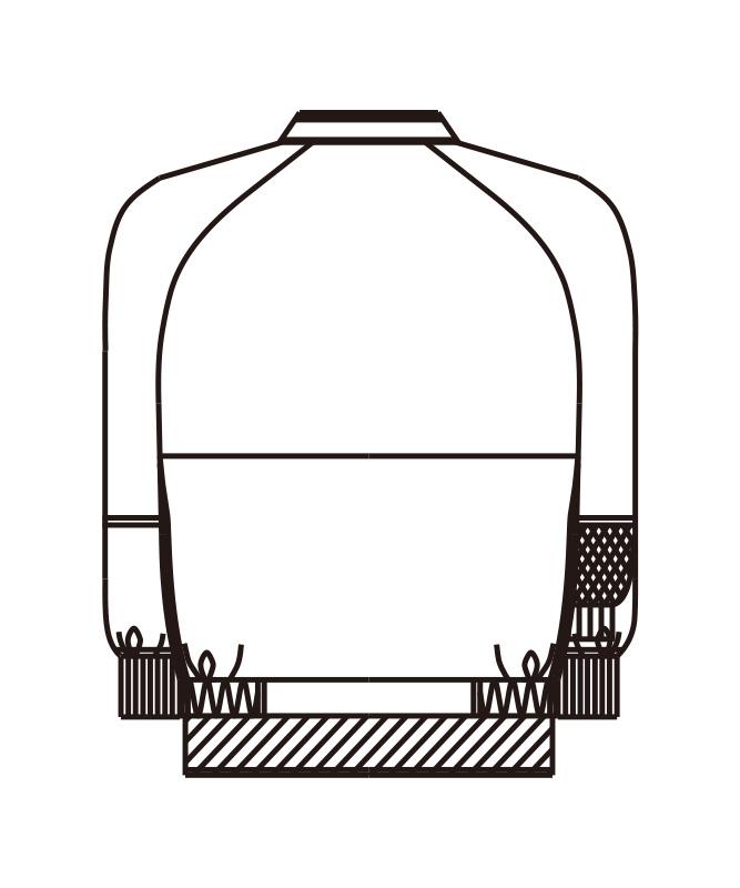 エコ・ウェルシージャンパー長袖[男女兼用][KAZEN製品] 405-60