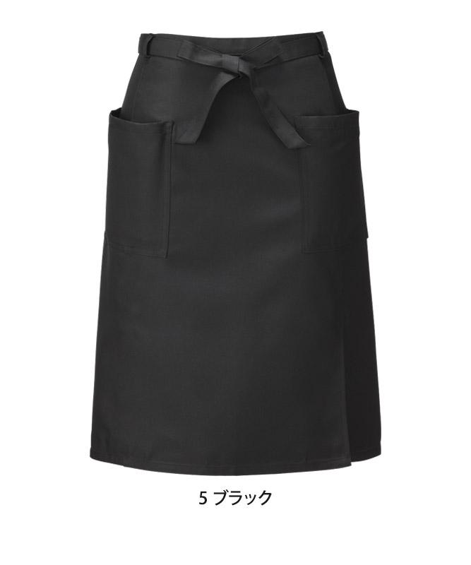腰下エプロン(無地・ミドル丈)[KAZEN製品] APK488
