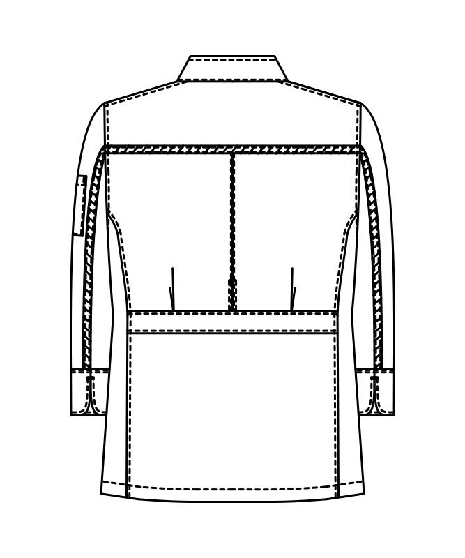 ストレッチコックコート長袖[男女兼用][KAZEN製品] 407-60