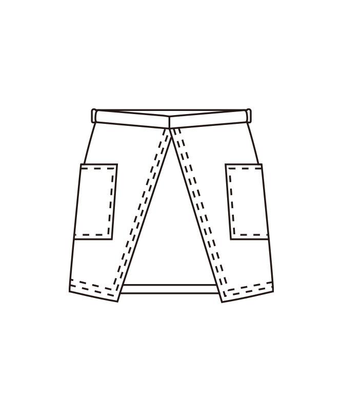 サロンエプロン(無地)[KAZEN製品] APK492