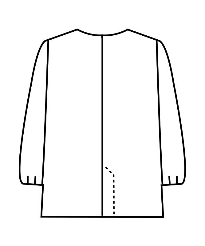調理衣レディス(ゴム入り)長袖[住商モンブラン製品] 1-411