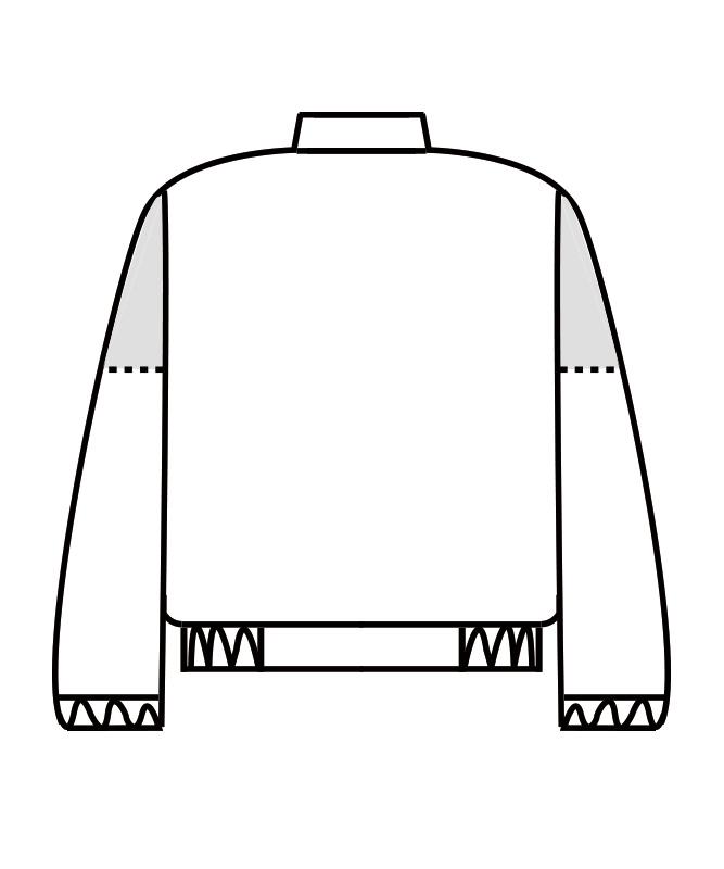 ポプリンジャンパー長袖[男女兼用][住商モンブラン製品] 8-711