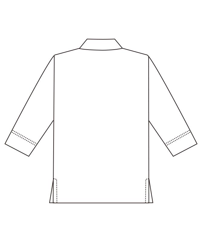 和風シャツ七分袖(袖口ネット付)[男女兼用][チトセ製品] AS8511