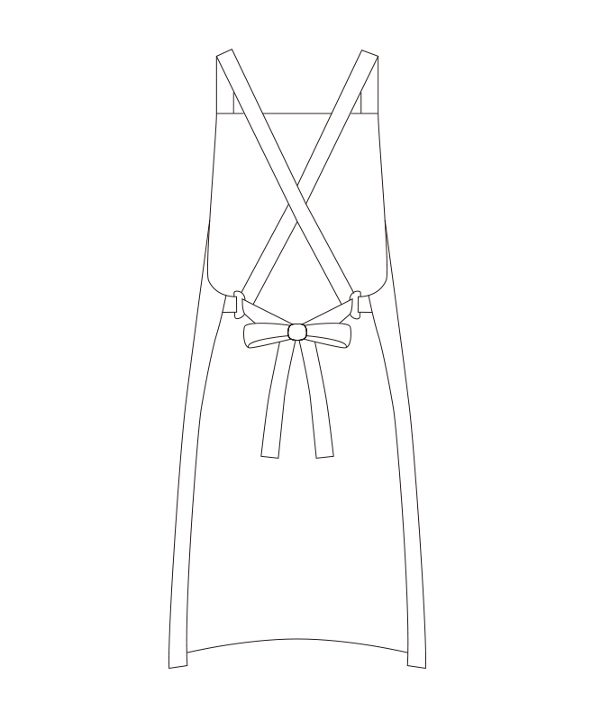 タスキ掛けエプロン[チトセ製品] T63