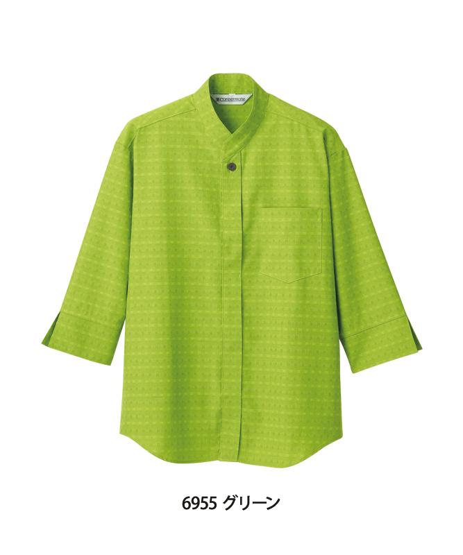 小紋ドビーシャツ七分袖[男女兼用][住商モンブラン製品] MC695