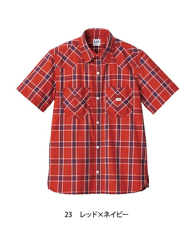 Leeウエスタンチェックシャツ半袖[女性用][ボンマックス製品] LCS43008