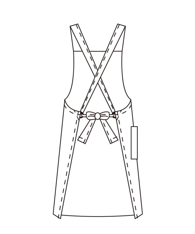 胸当てエプロン(タスキ式)[2枚入][KAZEN製品] 486-51