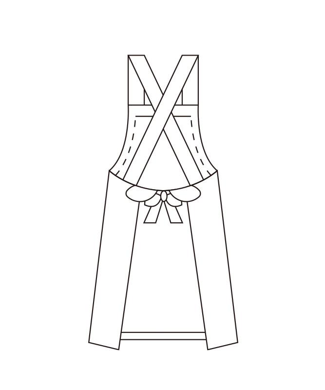 胸当てエプロン(セミ耐油)[KAZEN製品] 487-90