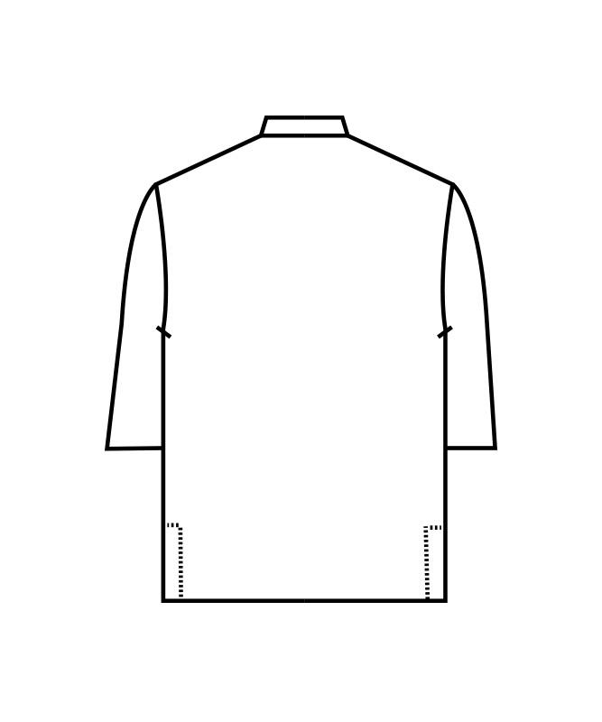 オニベジポプリン調理シャツ七分袖[男女兼用][住商モンブラン製品] OV2502