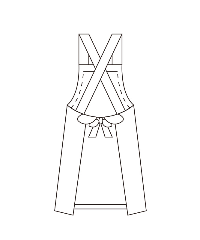 胸当てエプロン(耐油)[KAZEN製品] 487-92