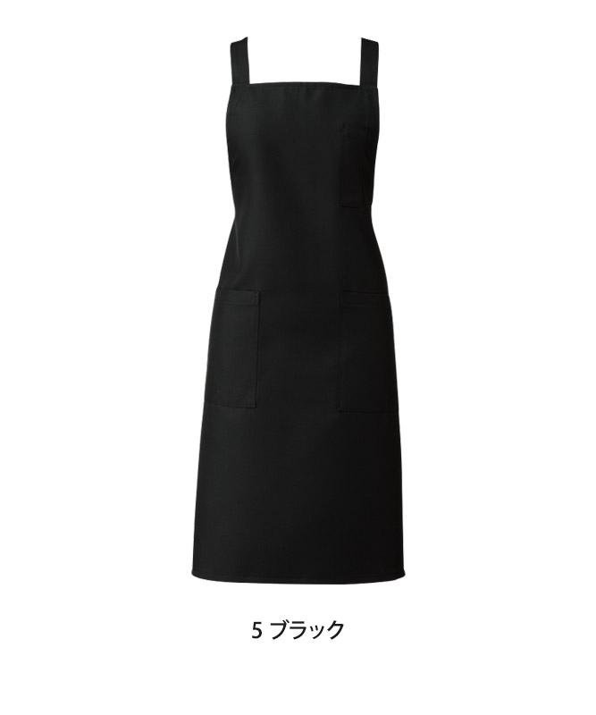 胸当てエプロン(無地)[KAZEN製品] APK499