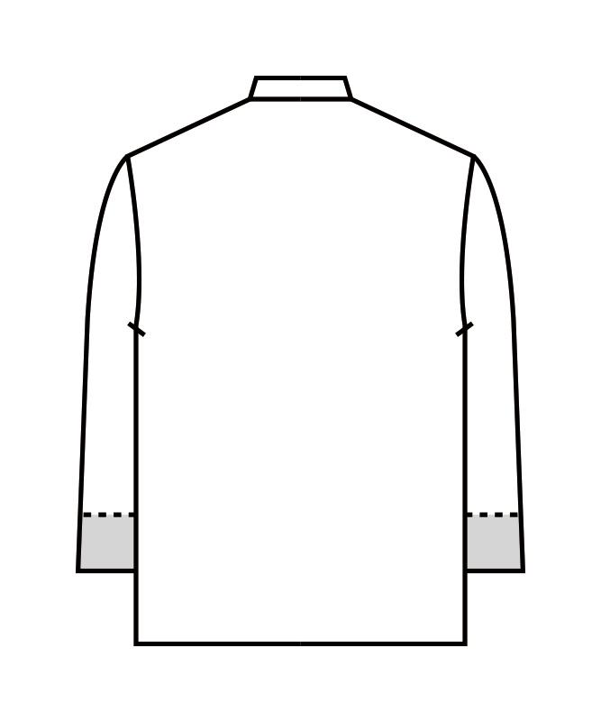 調理コート長袖[男女兼用][住商モンブラン製品] 1-571