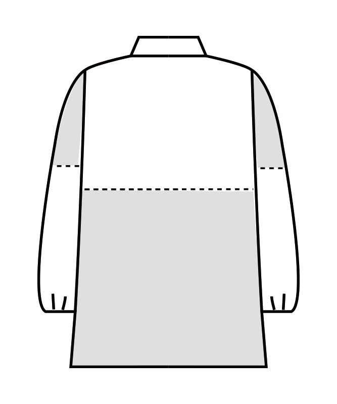 制電単糸ツイルブルゾン長袖[男女兼用][住商モンブラン製品] 8-723