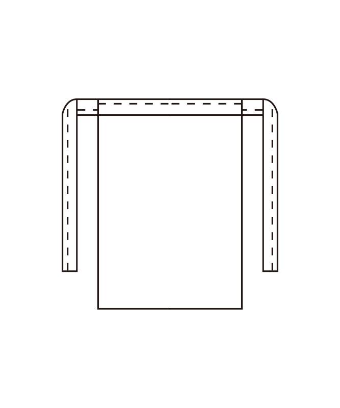 腰下エプロン(セミ耐油)[KAZEN製品] 488-90