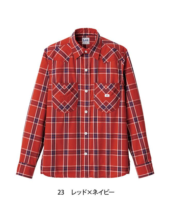 Leeウエスタンチェックシャツ長袖[男性用][ボンマックス製品] LCS46006