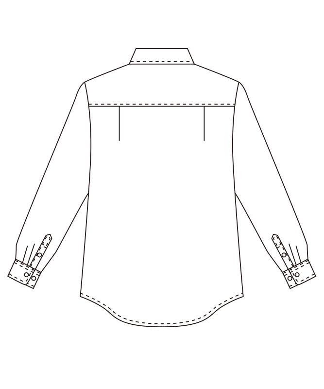 ボタンダウンシャツ長袖[男女兼用][チトセ製品] EP7616