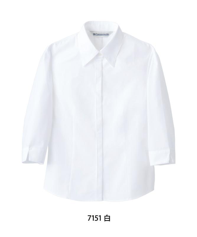 ポプリンシャツレディス七分袖[住商モンブラン製品] MC715