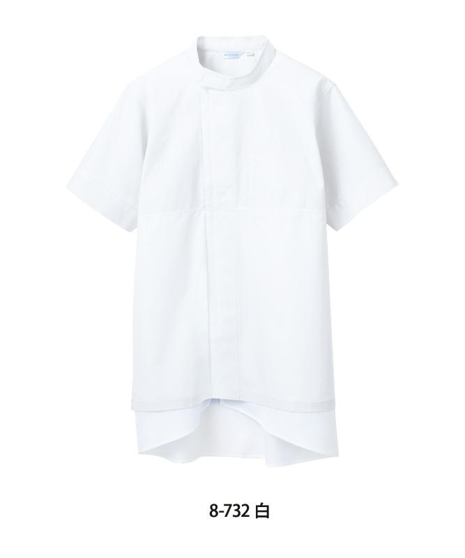 ポプリンブルゾン半袖[男女兼用][住商モンブラン製品] 8-73