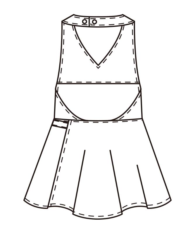 エプロン[女子][チトセ製品] CL-0230