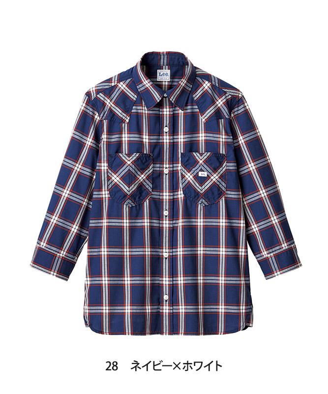 Leeウエスタンチェックシャツ七分袖[男性用][ボンマックス製品] LCS46007