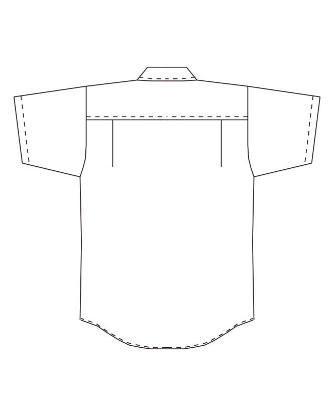ボタンダウンシャツ半袖[男女兼用][チトセ製品] EP7617