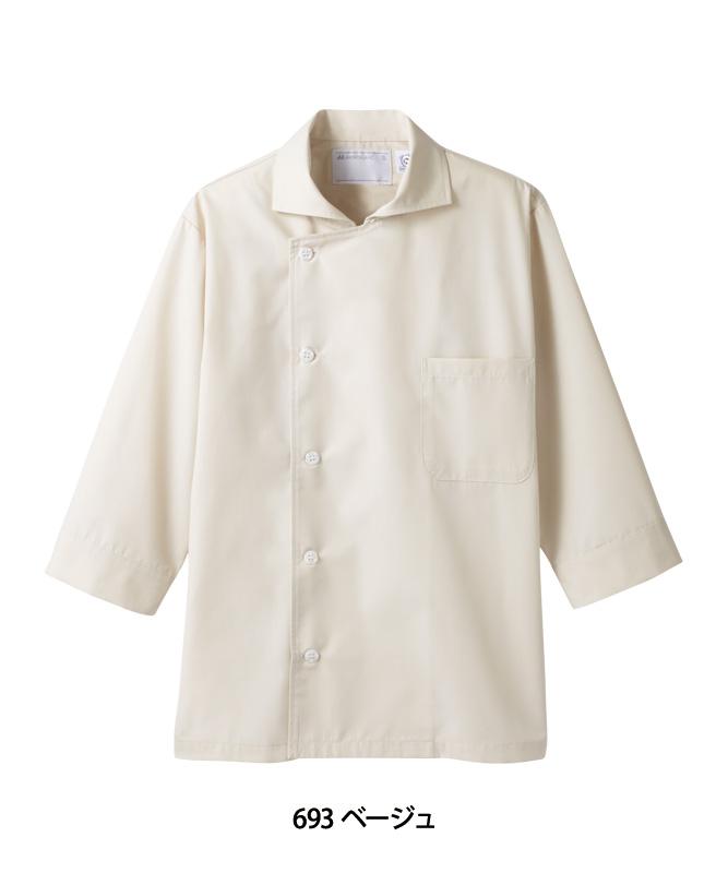 ポプリンコックシャツ七分袖[男女兼用][住商モンブラン製品] 6-69