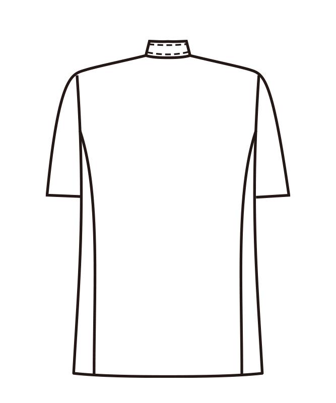 コックコートダブル半袖[男女兼用][KAZEN製品] 412-60