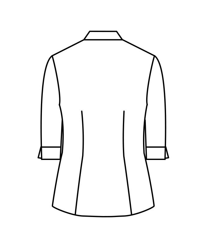 ストライプビエラシャツレディス七分袖[住商モンブラン製品] MC720