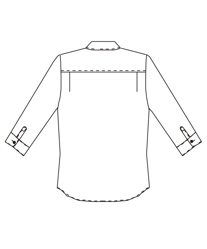 ボタンダウンシャツ七分袖[男女兼用][チトセ製品] EP7619