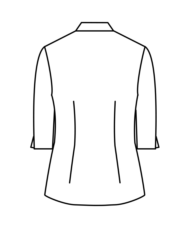 ポプリンシャツレディス七分袖[住商モンブラン製品] MC721