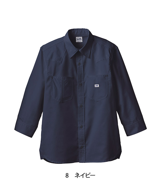 Leeウエスタンシャツ七分袖[男女兼用][ボンマックス製品] LCS49002