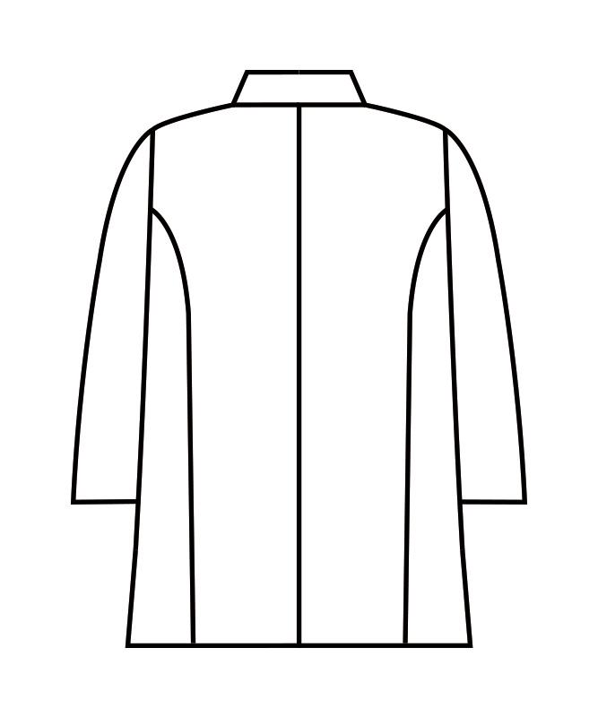 調理衣メンズ七分袖[住商モンブラン製品] 1-607