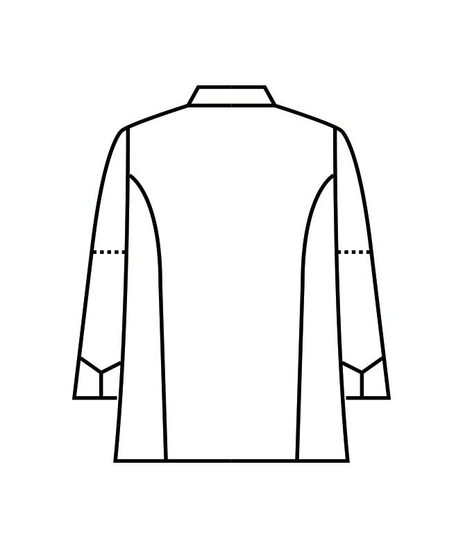 制電単糸ツイルコックコート長袖(袖口ネット付)[男女兼用][住商モンブラン製品] 6-721