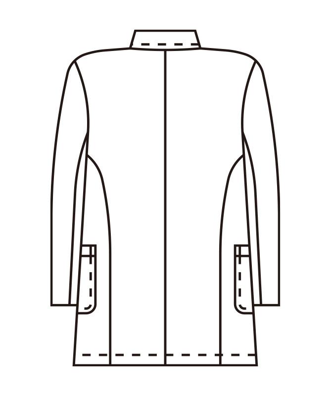 双糸ツイルメンズシングルコート[KAZEN製品] 415-40