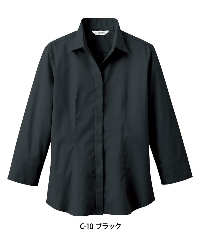 ブロードシャツ七分袖[女子][チトセ製品] EP7736