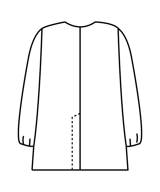 調理衣メンズ(ゴム入り)長袖[住商モンブラン製品] 1-611