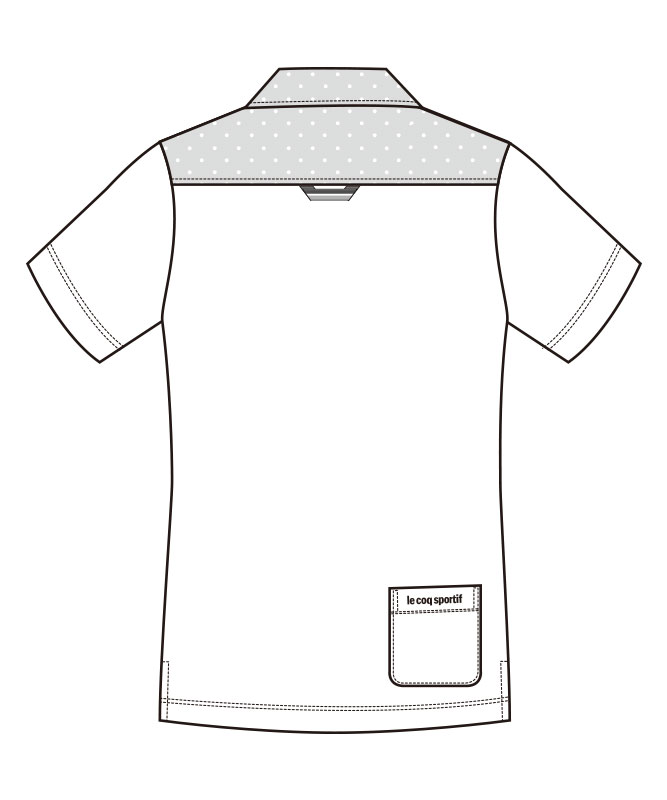 ルコックスポルティフニットシャツ半袖[男女兼用][lecoq製品] UZL3062