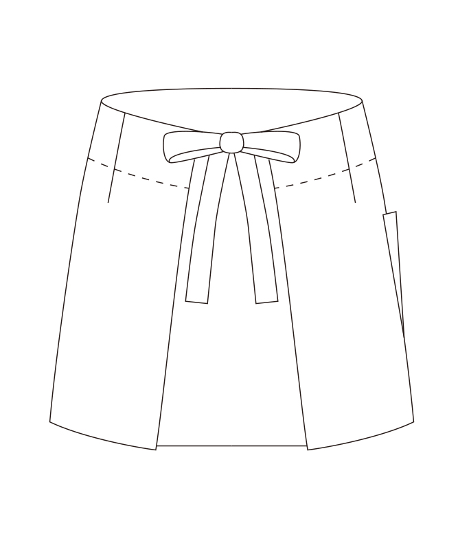 ショートエプロン(返品不可商品)[チトセ製品] T7343