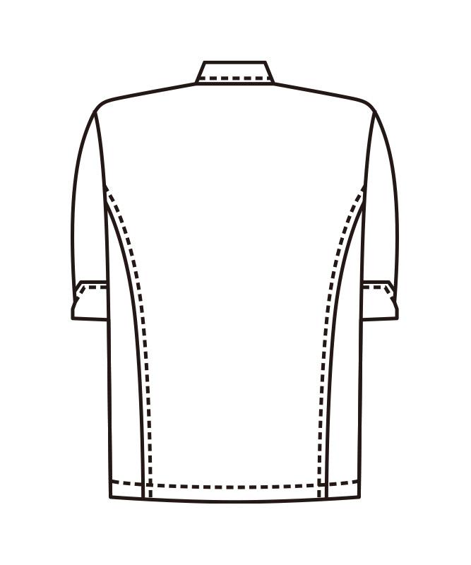 コックシャツ五分袖[男女兼用][KAZEN製品] 416-8