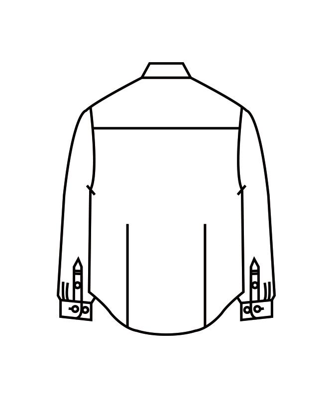 シャツメンズ長袖[住商モンブラン製品] BF2571-2