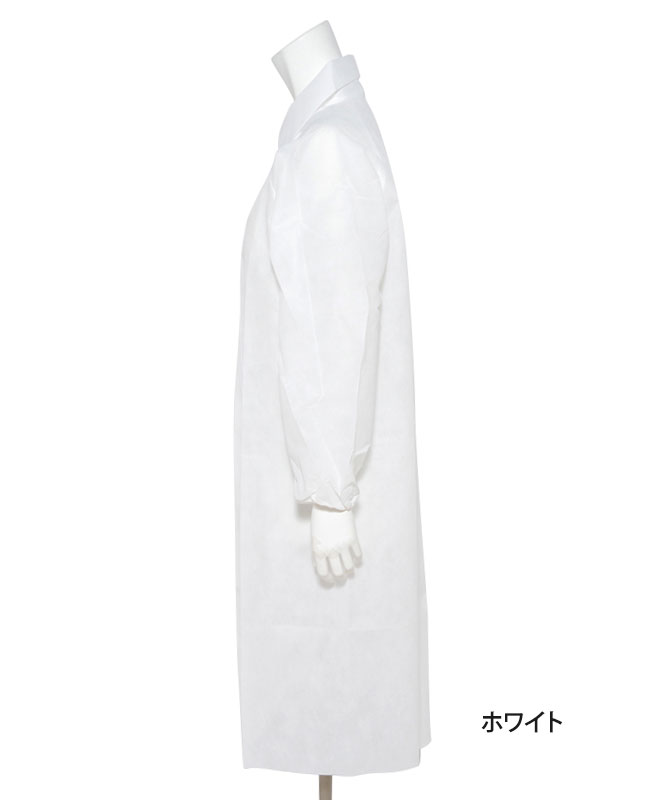 エージークリーン使い捨て白衣3点セット(ファスナー仕様・返品不可商品)[アゼアス製品] AZCLEAN1301
