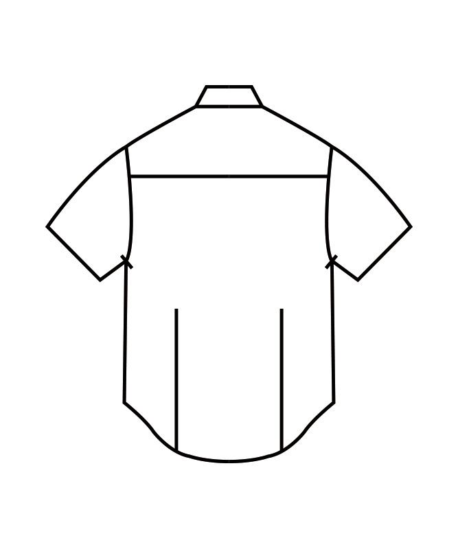 シャツメンズ半袖[住商モンブラン製品] BF2572-2