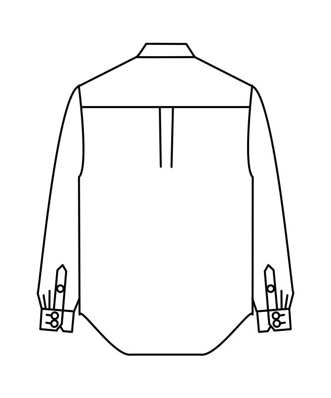 ポプリンシャツ長袖[男女兼用][住商モンブラン製品] MC7361