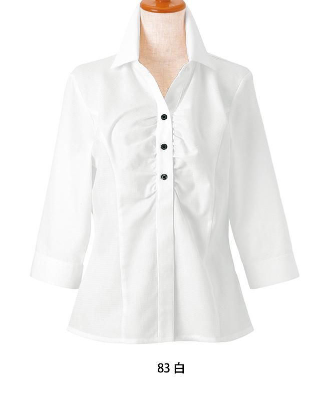 イタリアンカラーシャツ七分袖[女子][ボストン商会製品] 24228