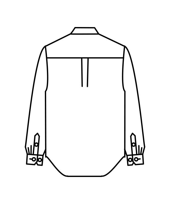 ストライプビエラシャツ長袖[男女兼用][住商モンブラン製品] MC737