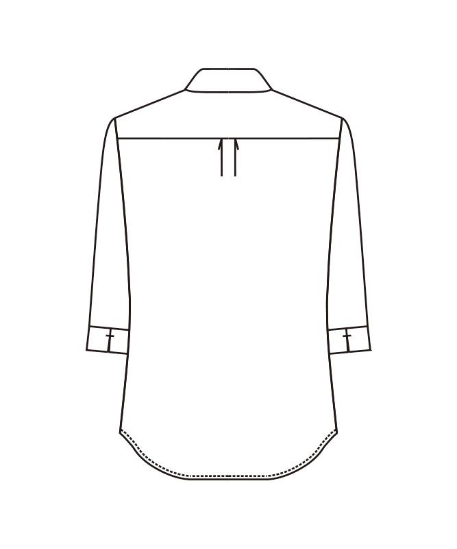 デニム調ワイドカラーシャツ七分袖[男女兼用][ボストン商会製品] 24313