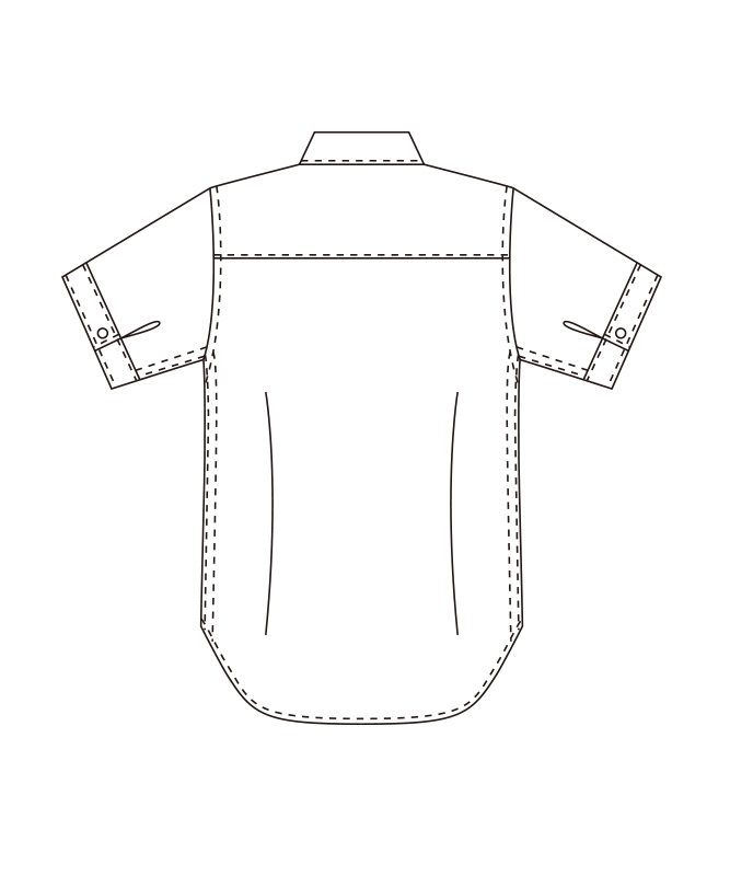 ボタンダウンシャツ半袖(ストライプ)[男子][チトセ製品] BC6919