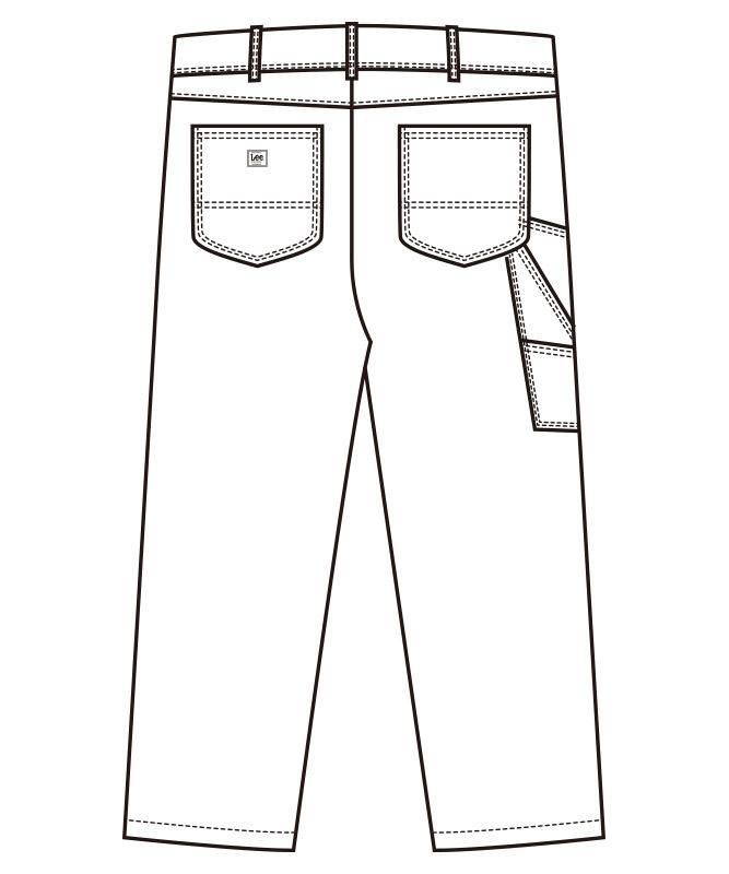 Leeペインターパンツ[男性用][ボンマックス製品] LWP66003