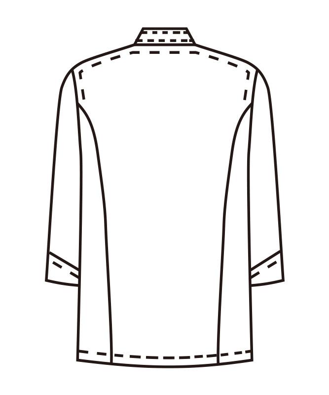 ポプリンコックシャツ七分袖[男女兼用][KAZEN製品] 421